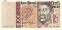 10000 Escudos banknote.