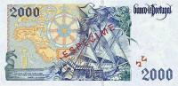 2000 Escudos banknote - back side.