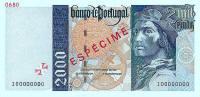 2000 Escudos banknote.
