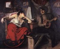 José Malhoa Painting - Fado.