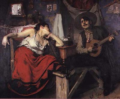 Jose Malhoa Fado Painting