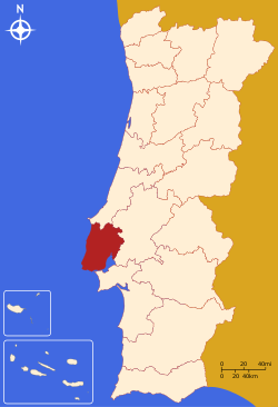 Lisbon District Map.