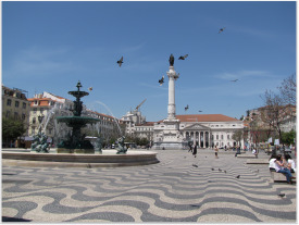 Lisbon Downtown - D. Pedro IV Square.