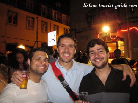 Marco and friends in Lisbon Arraiais.