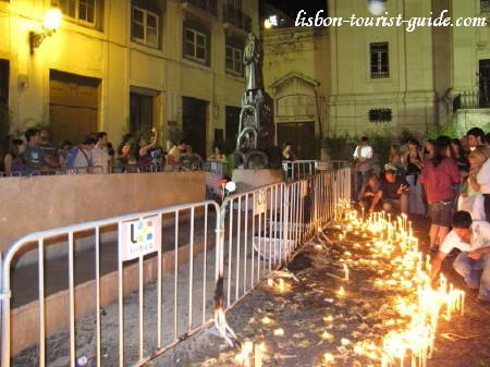 Lisbon Santo Antonio Candles.