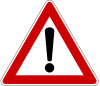Traffic Warning Sign.