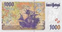 1000 Escudos banknote - back side.