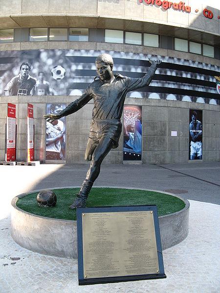 Eusébio Statue - Sport Lisboa e Benfica.