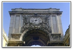 Lisbon Clock Augusta Street.