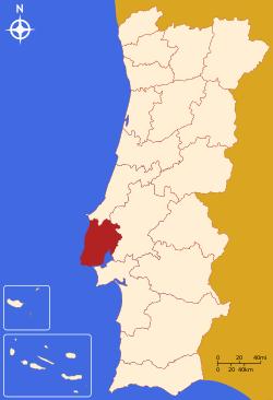 Lisbon District Map.