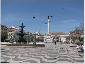 Lisbon Downtown - D. Pedro IV Square.